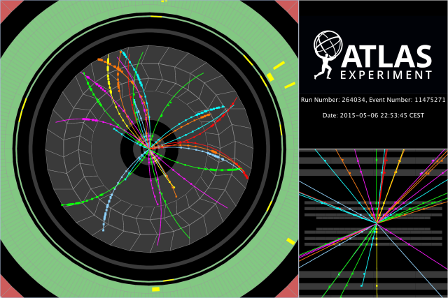 ATLAS,900 GeV,restartLHC,event,Test collisions