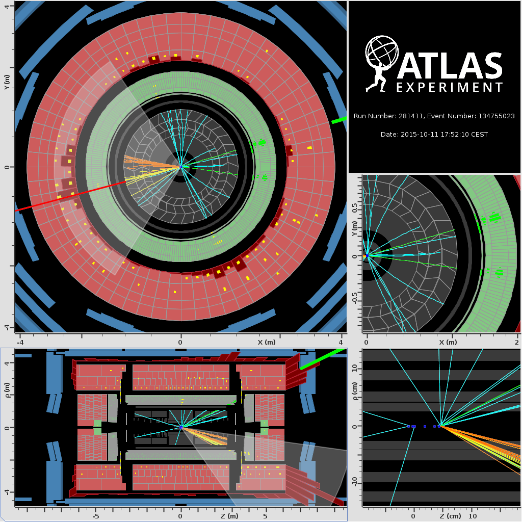 ATLAS,13 TeV,LHC run2,event,Real Events,For Press