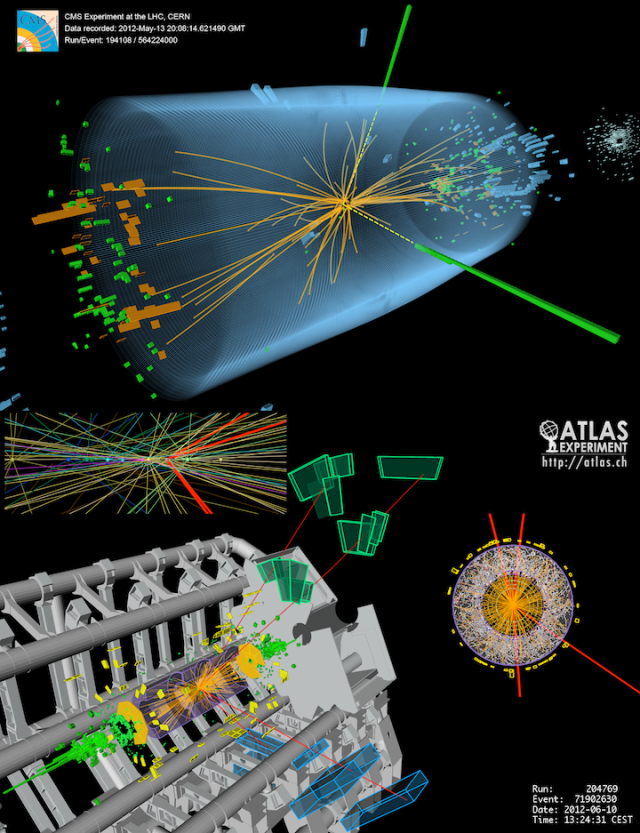 Higgs,Real Events,Experiments and Tracks