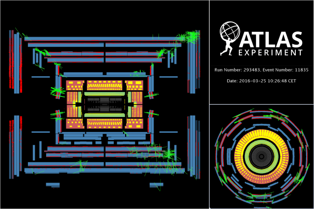 beam splash,restartLHC,ATLAS,Run2,2016,event