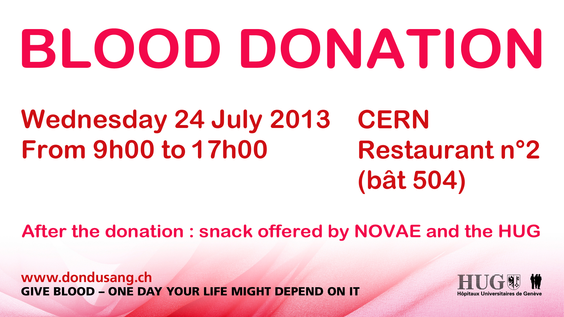 Blood Donation 24 July Cern Bulletin