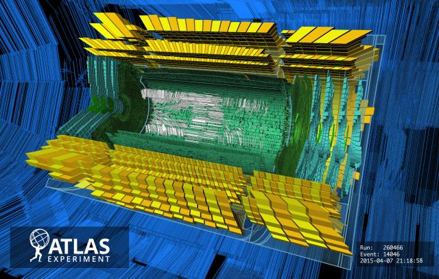 Beam Splash in ATLAS preparing for LHC Run 2