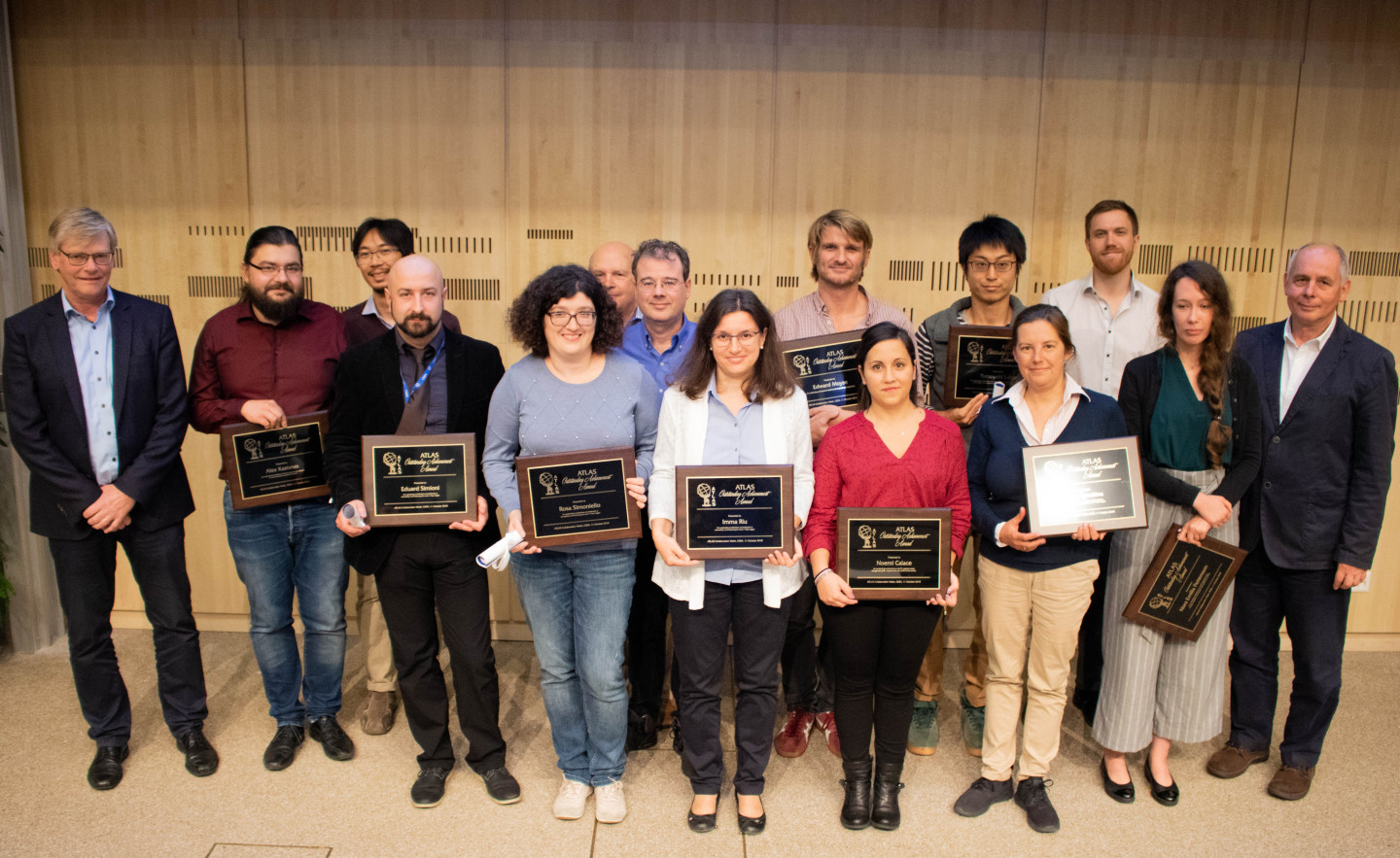 ATLAS 2018 Outstanding Achievement Award Winners