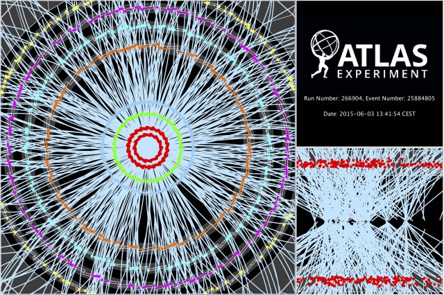 ATLAS,13 TeV,restartLHC,event,LHC run2
