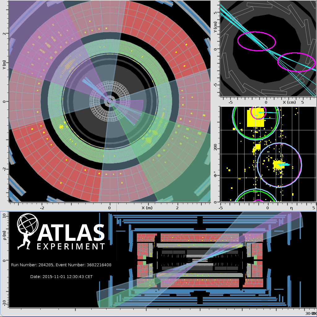 Proton Collisions,Event Displays,Physics,ATLAS,top quark