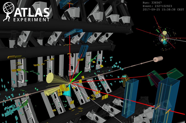 Υποψήφιοι Higgs, συγκρούσεις Proton, εκδηλώσεις γεγονότων, φυσική, ATLAS