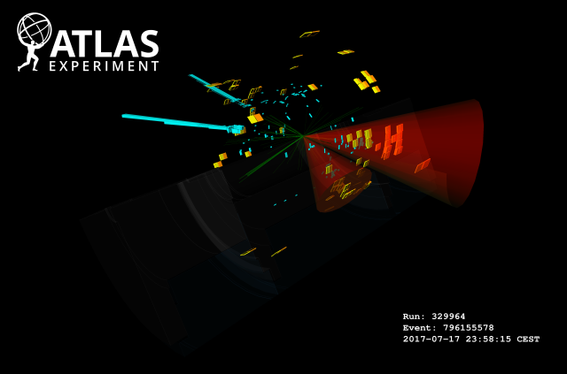 ATLAS Event Display: candidate pair of Higgs bosons decay in ATLAS