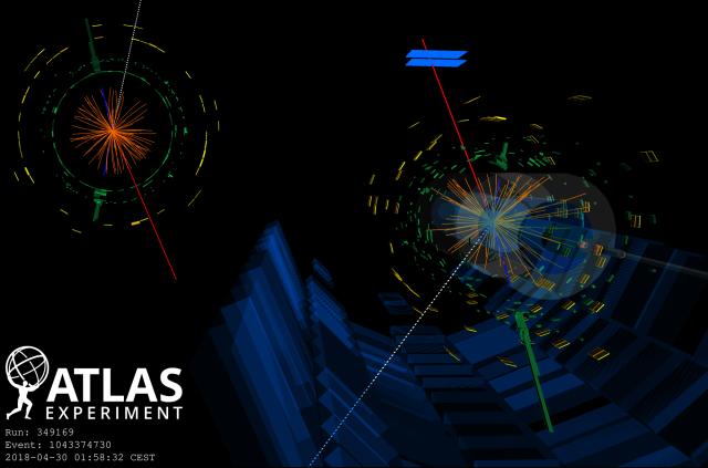 ATLAS rapporte la première observation de la production d'un triplet de bosons W