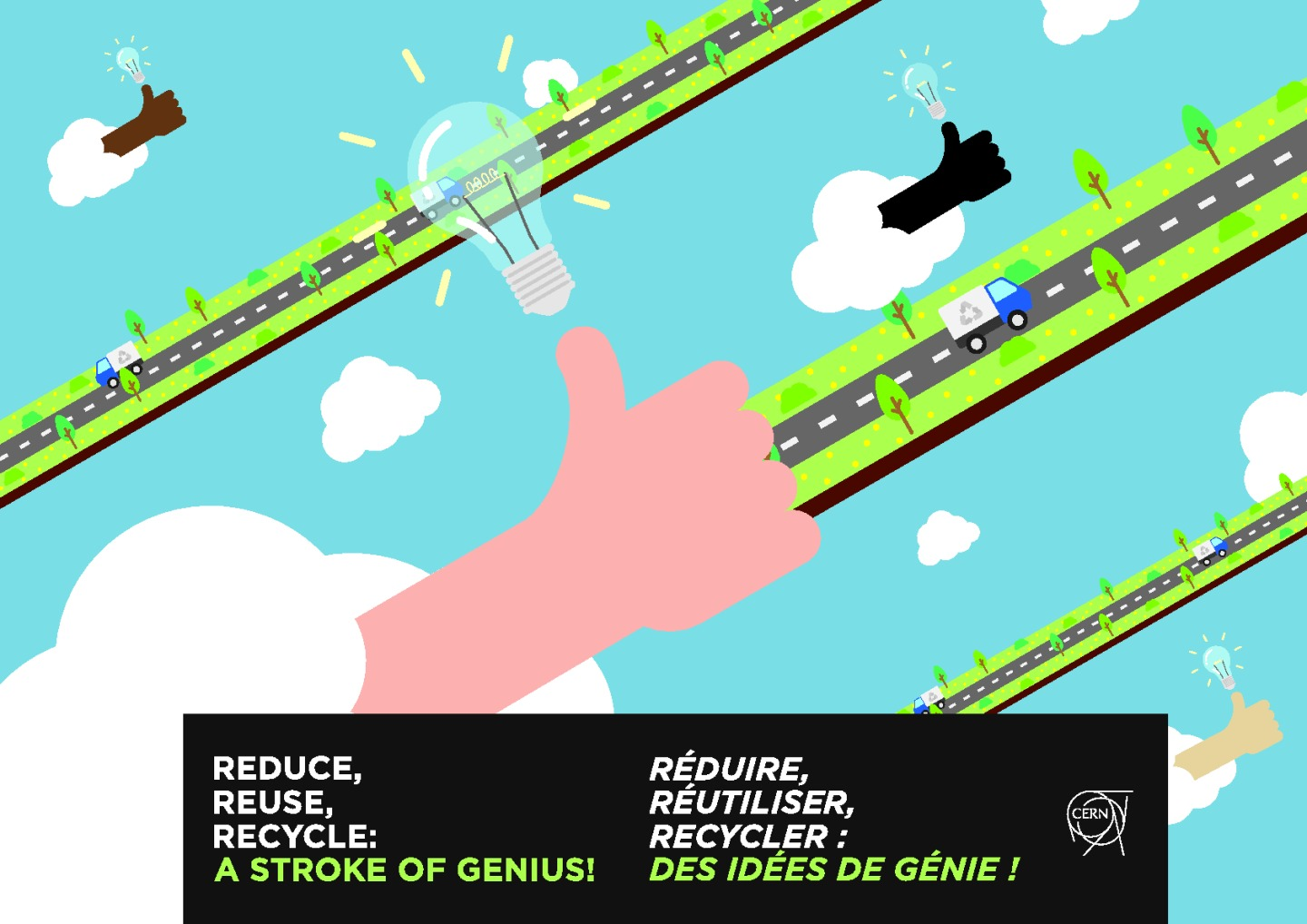 Poster for the recycling campaign