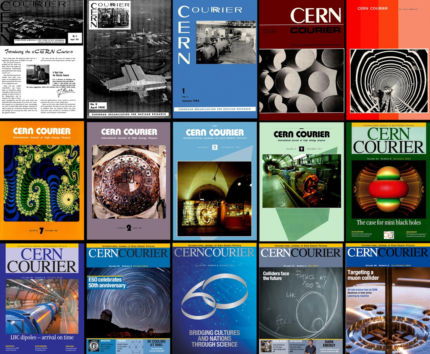 CERN Courier collage