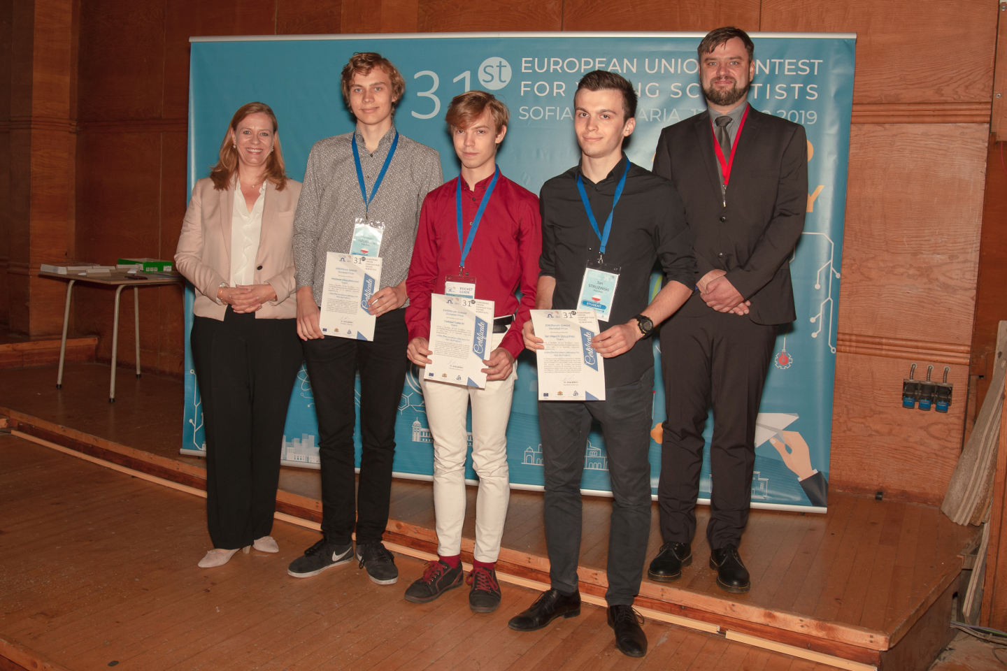 Winners of the EU Contest for Young Scientists (EUCYS) CERN special prize 2019