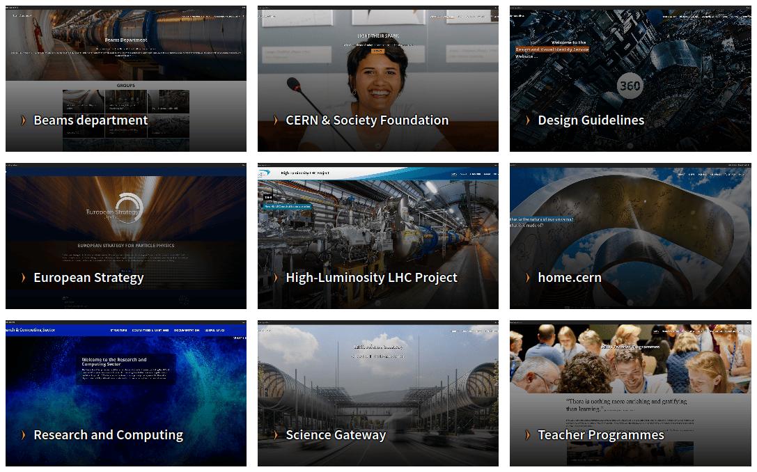 How to build beautiful CERN websites