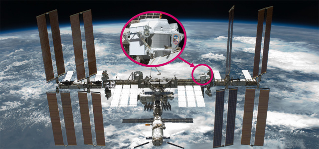 AMS-02 on the International Space Station