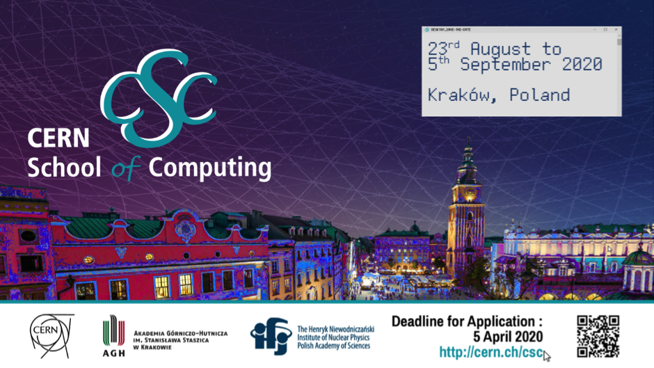 CERN School of Computing 2020: Apply now!