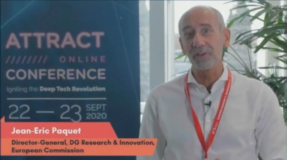 Jean-Eric Paquet, Director General, DG Research and Innovation, European Commission opening the ATTRACT online conference.