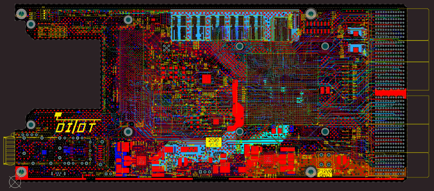 Distributed I/O Tier System Board layout.