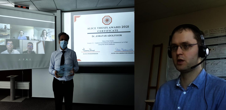 ALICE congratulates its PhD thesis award winner
