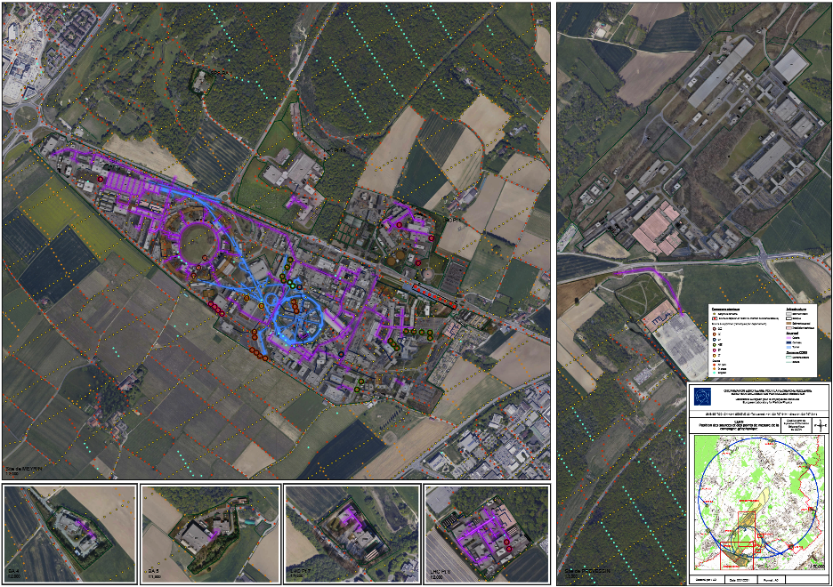 Map of 2021 geophysical measurements at CERN