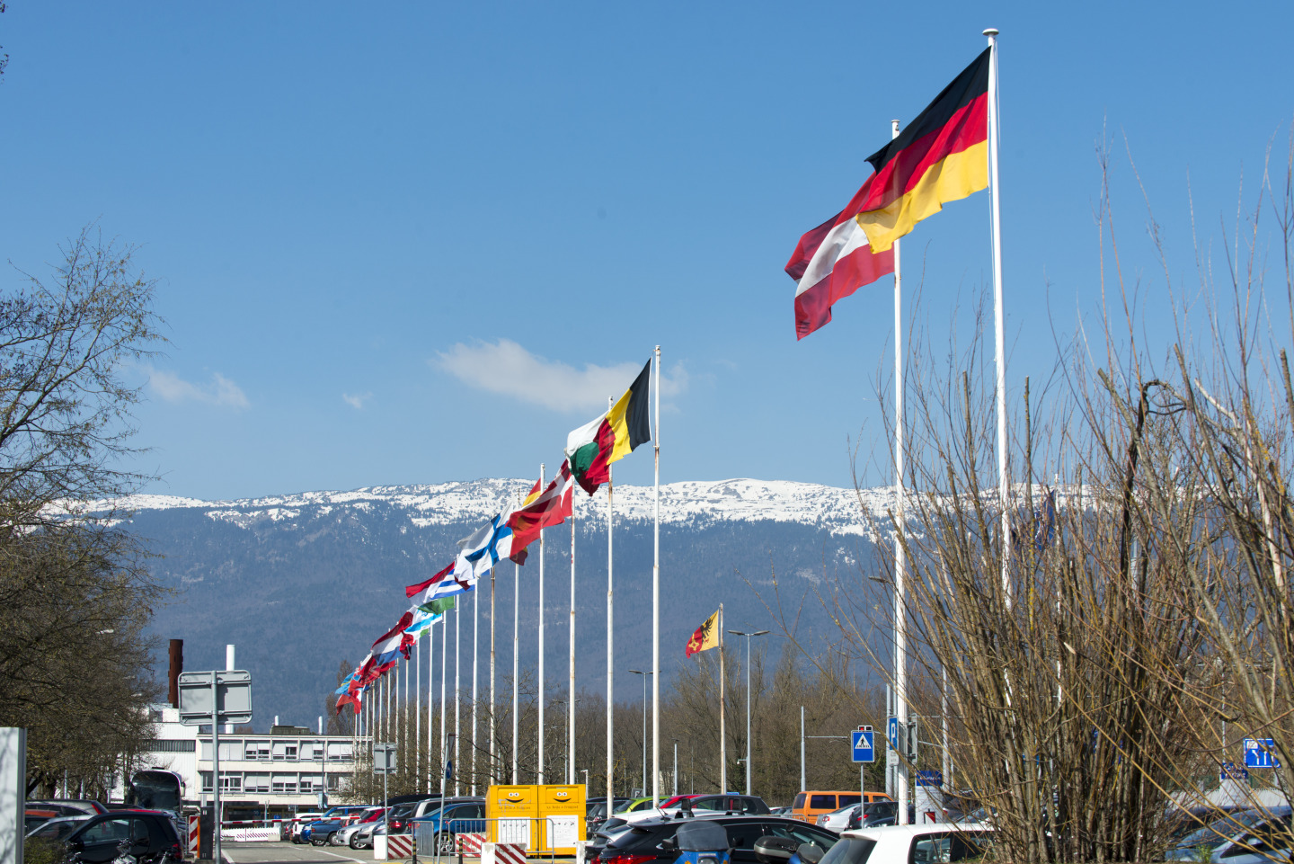 Pictures of the CERN Flags - April 2014