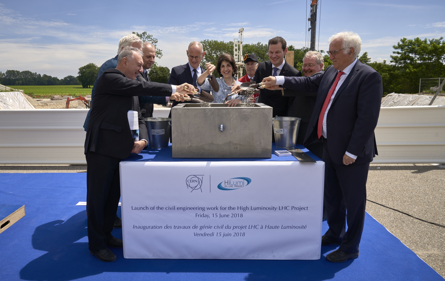 HL-LHC (High-Luminosity LHC) first stone ceremony June 2018