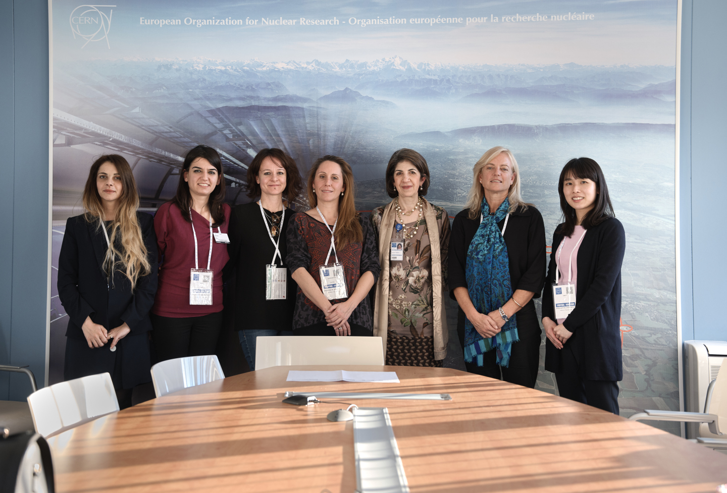 UNESCO-L'Oréal women in science laureates and rising talents with CERN Director-General, Fabiola Gianotti.