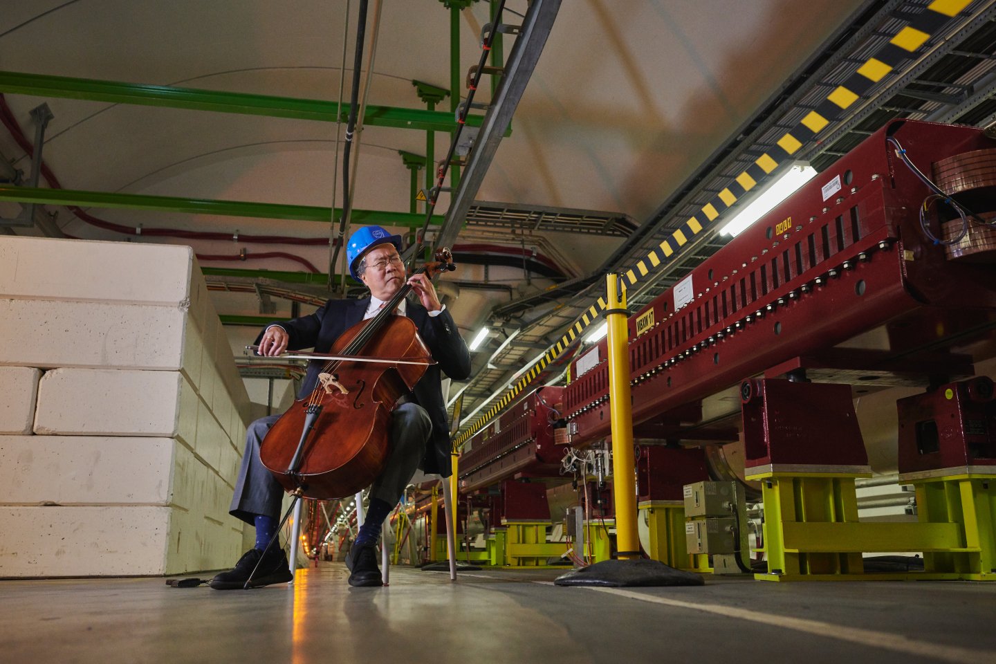 Yo-Yo Ma in the LHC tunnel