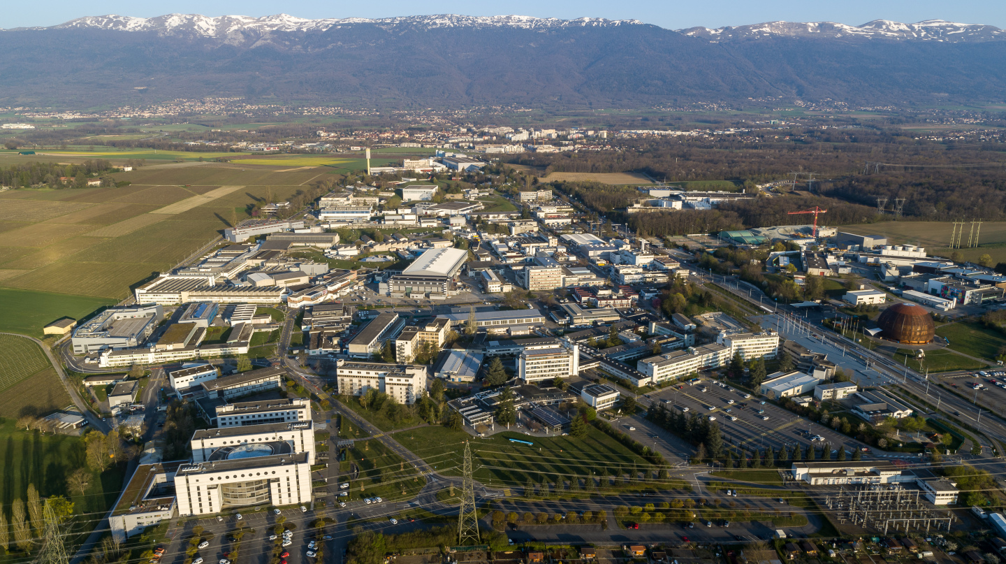 CERN Meyrin site aerial views