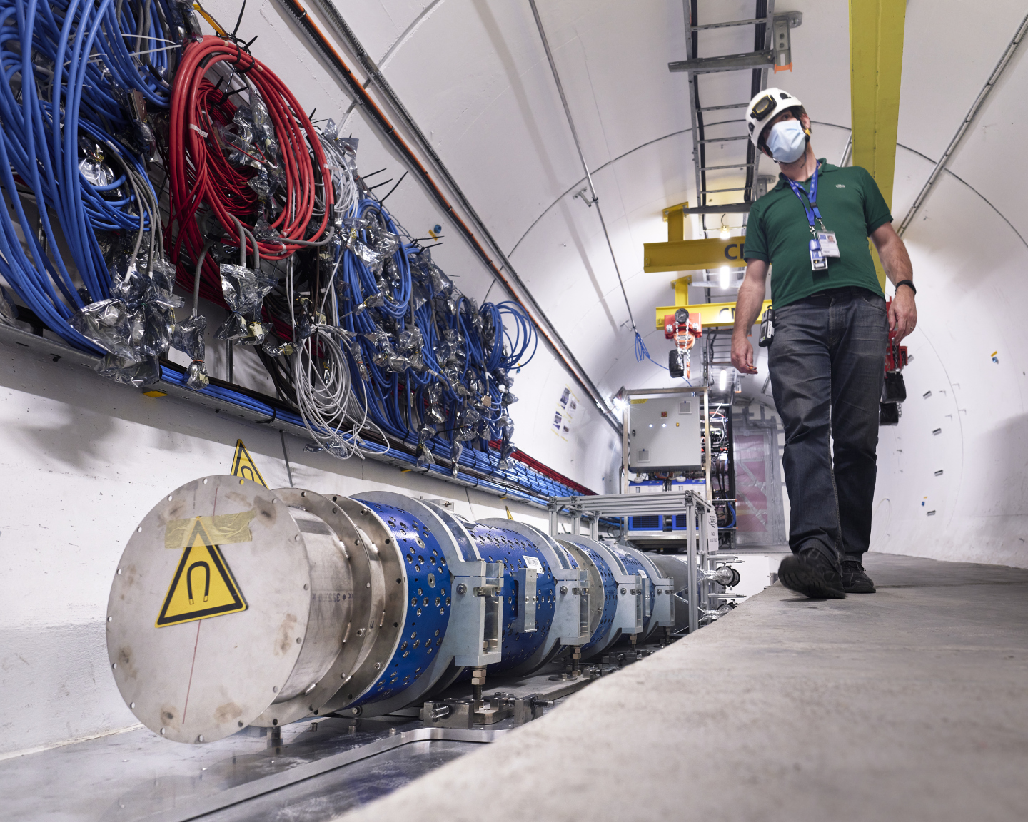 First phase of installation of FASER in the LHC tunnel