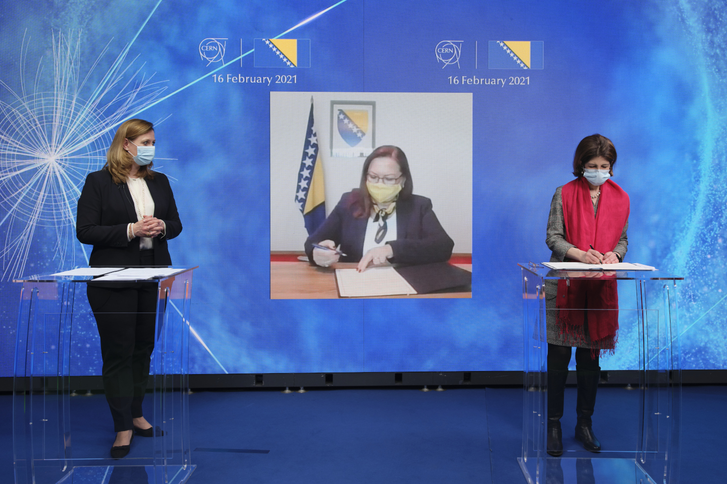 Remote signature of the International Cooperation Agreement between CERN and Bosnia and Herzegovina