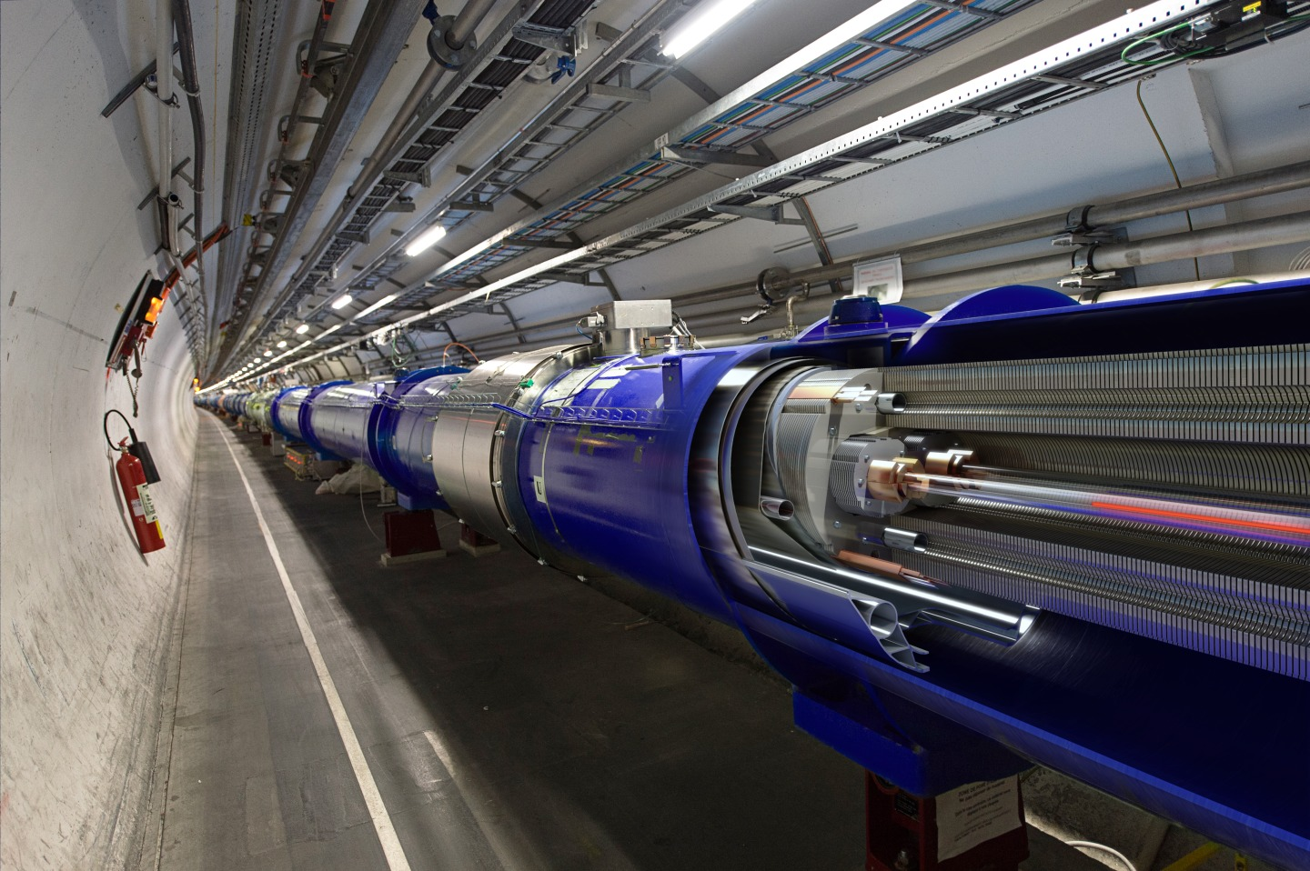 3D cut of the LHC dipole