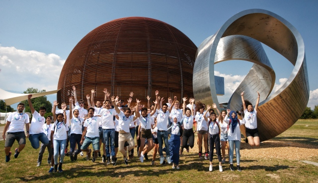 Group photos of CERN openlab summer students 2018