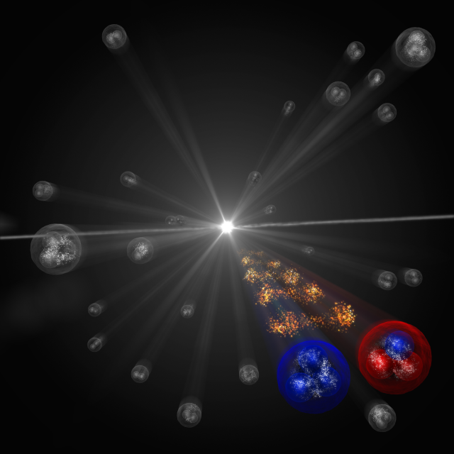 Artist's impression of an ALICE particle interaction event