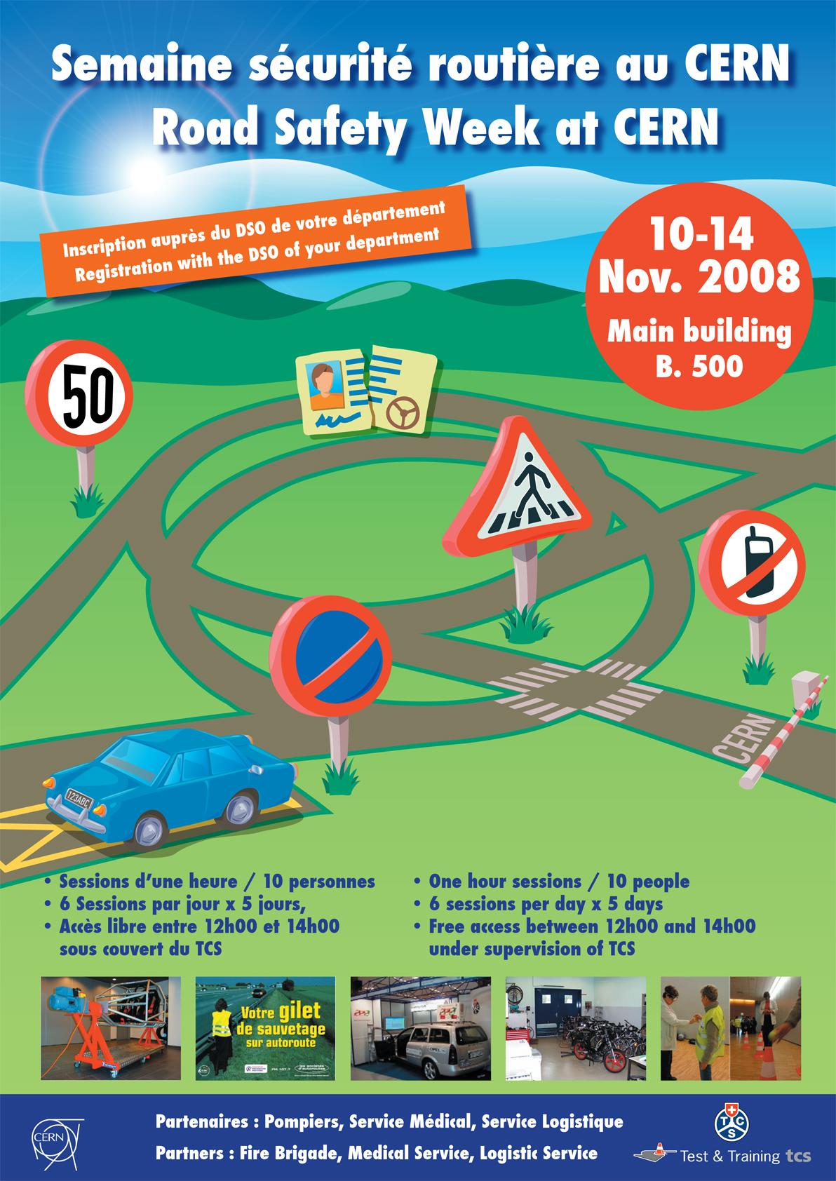 Road Safety Week At Cern Poster Cern Document Server