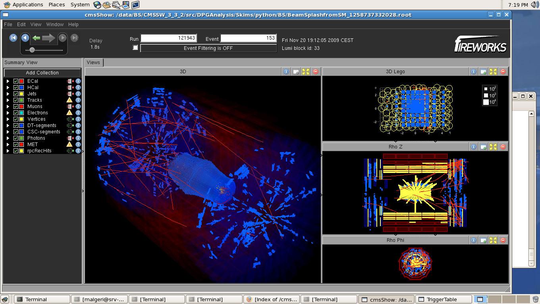 CMS collision events: LHC restart 2009 - CERN Document Server