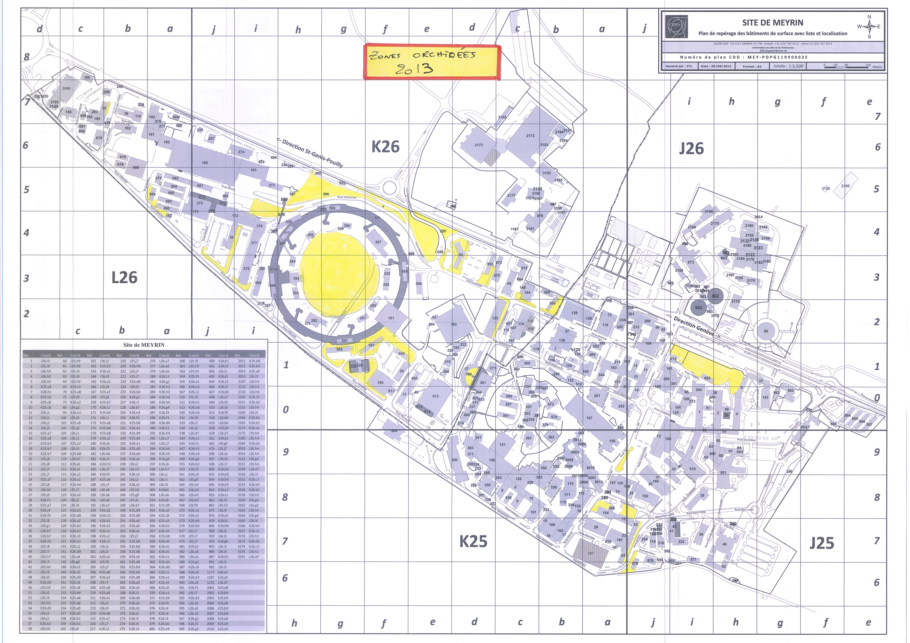 CERN map