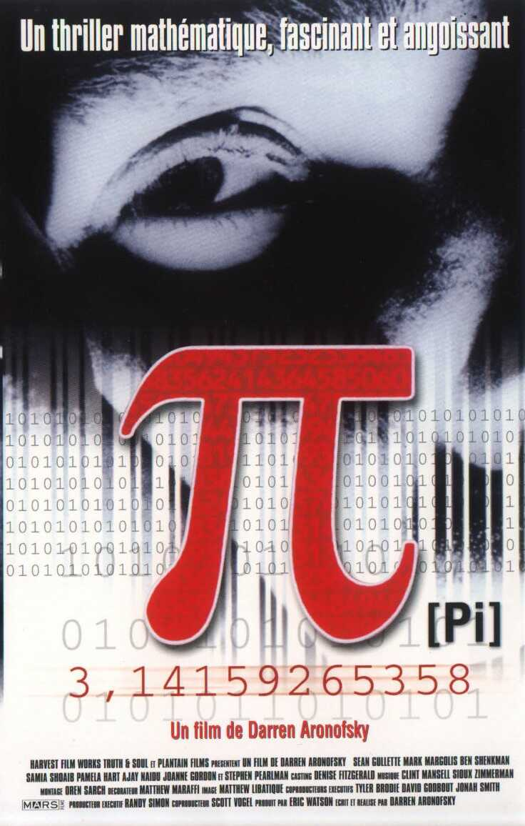 نتیجه تصویری برای pi film 1998