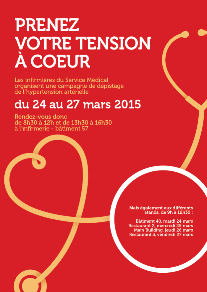Take your blood pressure to heart! Screening programme 24-27 March