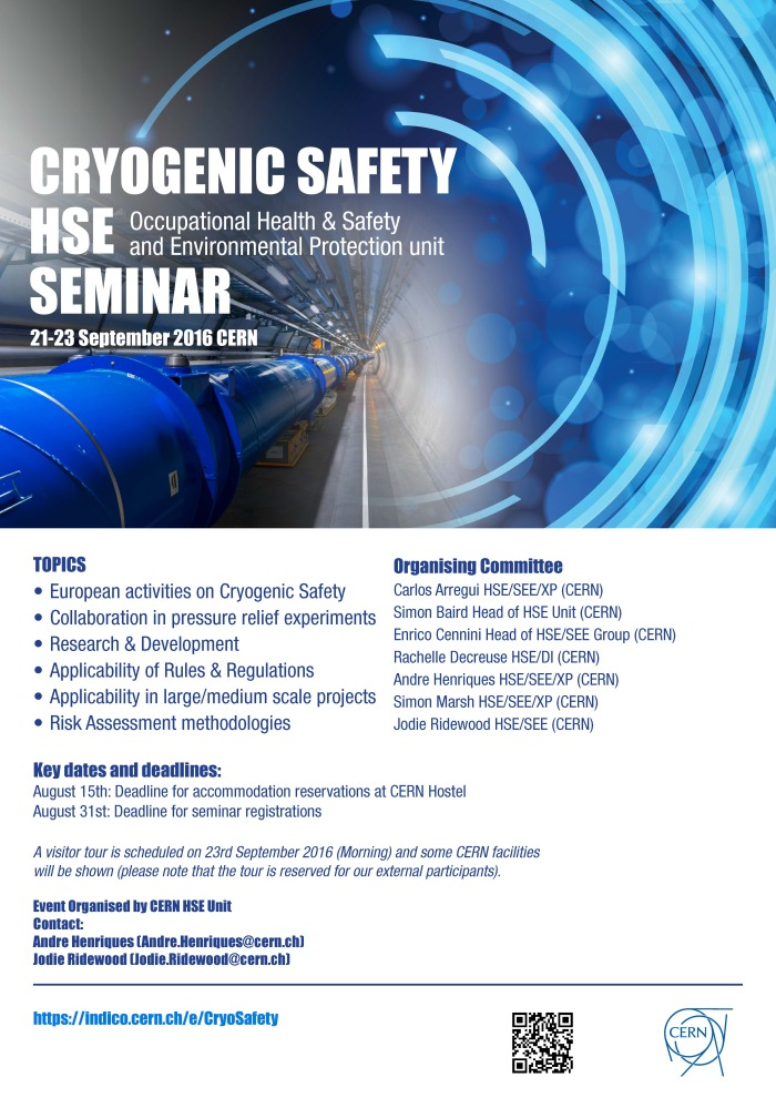cryogenic links of the week - CERN cryogenic safety seminar