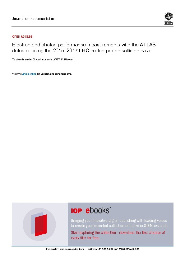Electron And Photon Performance Measurements With The Atlas