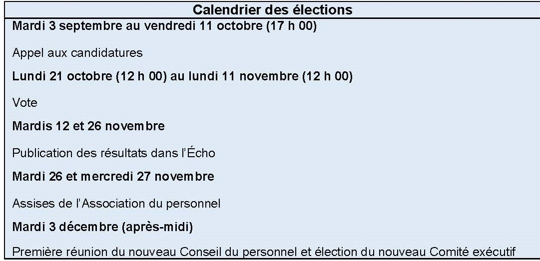 Calendrier Election 2019.The Staff Association And You Cern Document Server